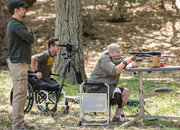 Former Marine Jacob Schick (at right) has a small part in American Sniper as one of the veterans mentored by Chris Kyle